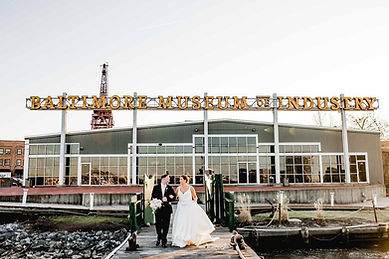 Baltimore Museum of Industry Bride & Groom Glamour N'Glitz Events LLC