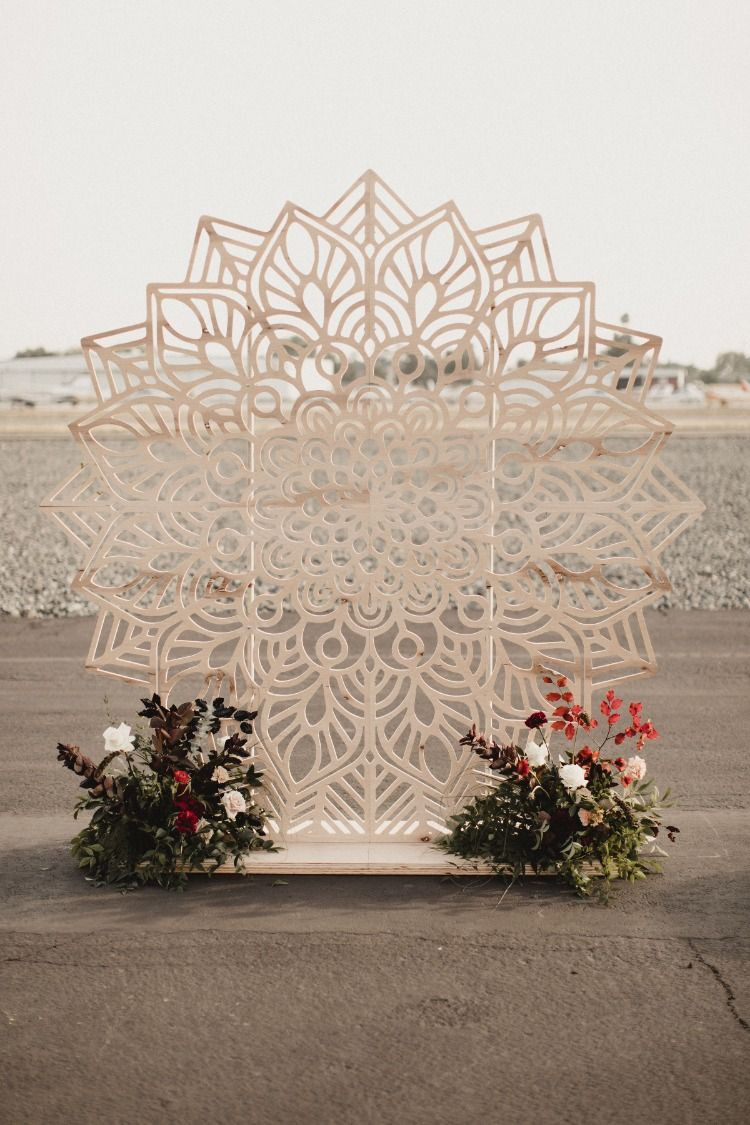 Bohemian Ceremony Backdrop