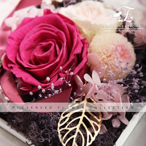 Preserved Rose and Mum in Display Box