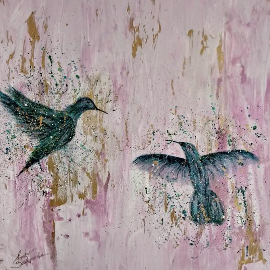 Love Birds 80x80cm