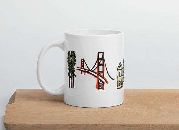 San Francisco Themed Mug