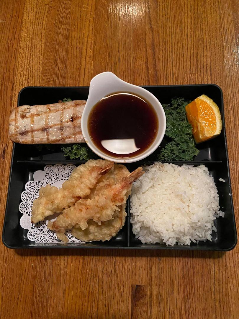 Tempura and Salmon Shioyaki