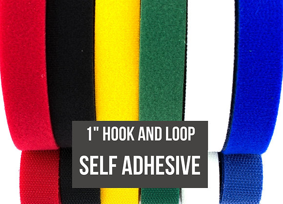 "1"" Self Adhesive Hook and Loop Fastener"