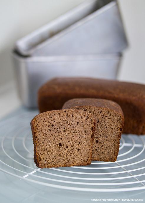 100% житній хліб на заквасці (на двох опарах), формовий