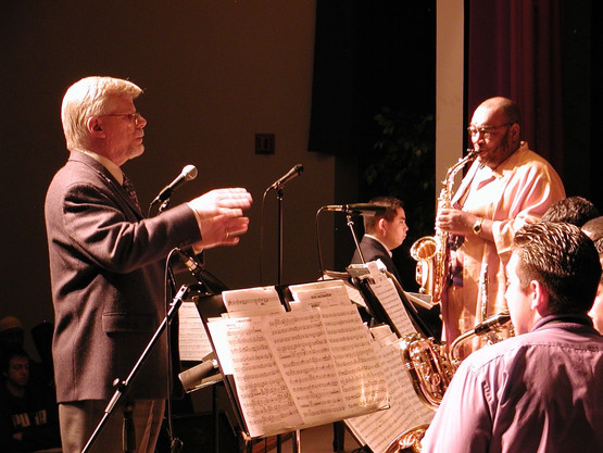 With Jeff Clayton and the Cal Poly Pomona Jazz Band, 2005