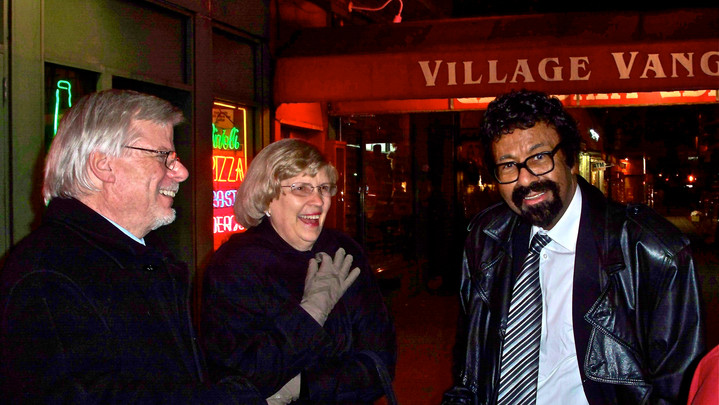 With Lida & David Baker in front of the Vanguard, 2006