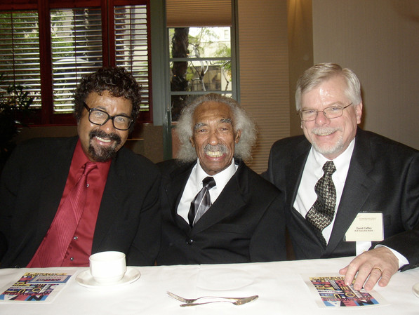 With David Baker & Gerald Wilson at the 2005 IAJE Conference in Long Beach, CA