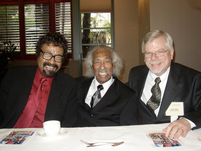 David Baker & Gerald Wilson at the 2005 IAJE Conference in Long Beach