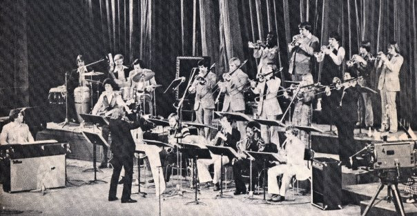 Conducting the Sam Houston State University Jazz Band in Bucharest, Romania on National TV, 1978