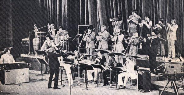 Conducting the Sam Houston State University Jazz Band in Bucharest, Romania on National TV, 1978