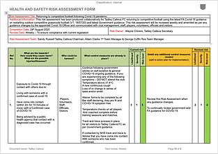 Bar Risk Assessment