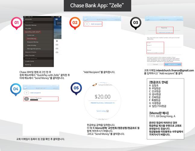 온라인헌금 Chase Bank