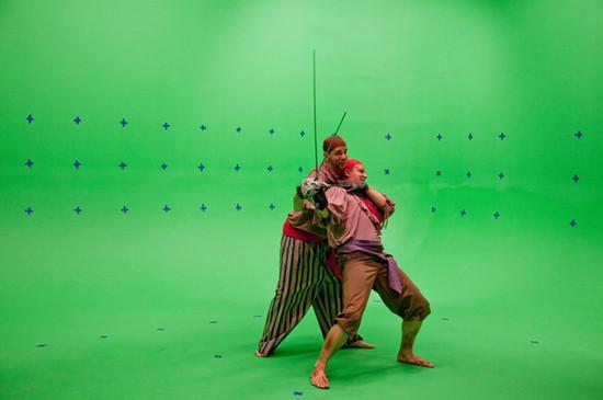 Production Photo, Adler Roberts and George Labusohr
