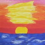 Sea at Sunset by Barbori Garnet