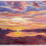 Sunset Over Glenmore Waters by Barboria Bjarne