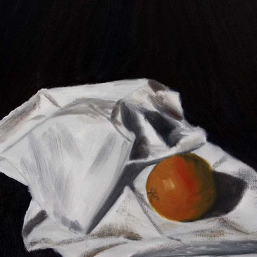Orange in Folds by Barbori Garnet