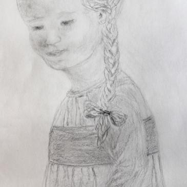 Peasant Girl by Barboria Bjarne