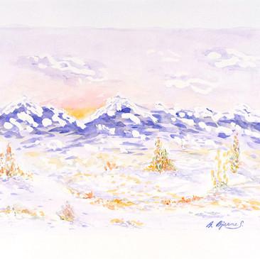 Snowy Mountains by Barboria Bjarne