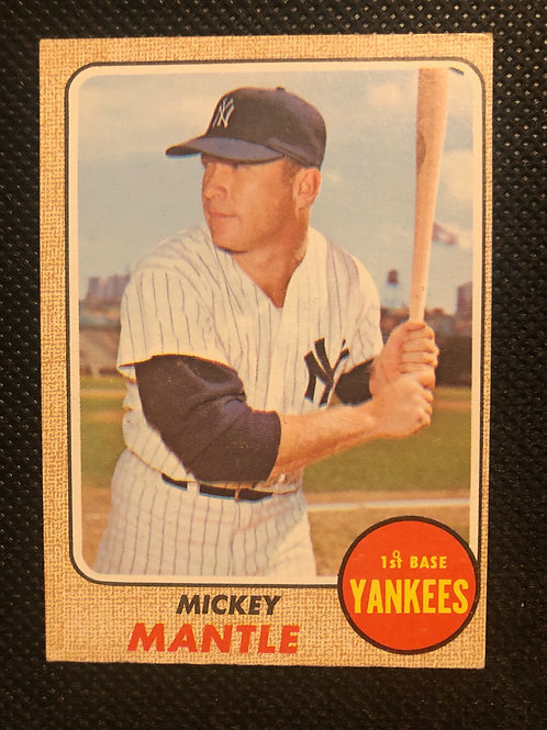 1968 Topps Mickey Mantle Card #280