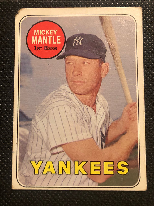 1969 Topps Mickey Mantle card #500 Front