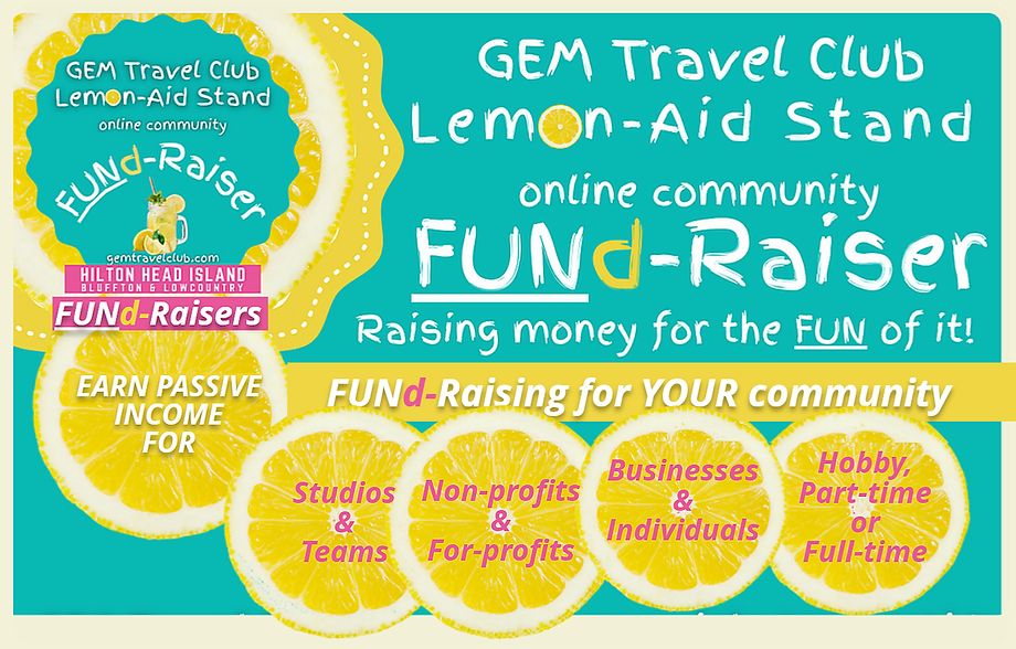 GEM Travel Club FUNd-Raiser Lemonaid sta