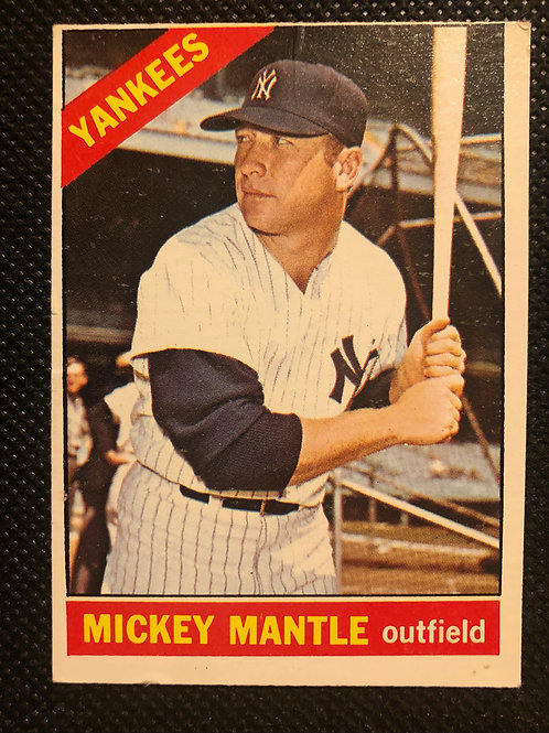 1966 Topps Mickey Mantle Card #50