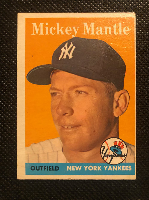 1958 Topps Mickey Mantle Card #150