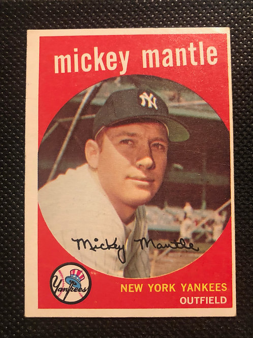 1959 Topps Mickey Mantle Card #10
