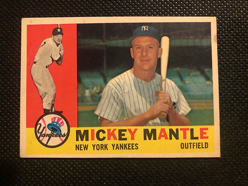1960 Topps Mickey Mantle Card #350