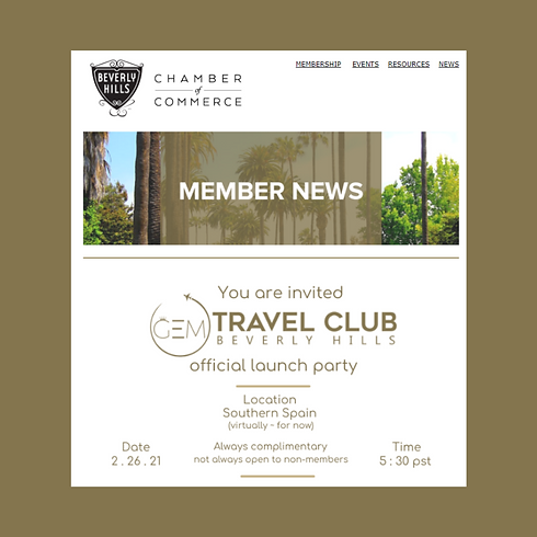 Beverly Hills Chamber Member News GEM Tr