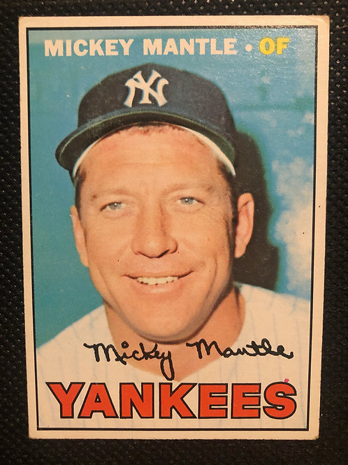 1967 Topps Mickey Mantle Card #150