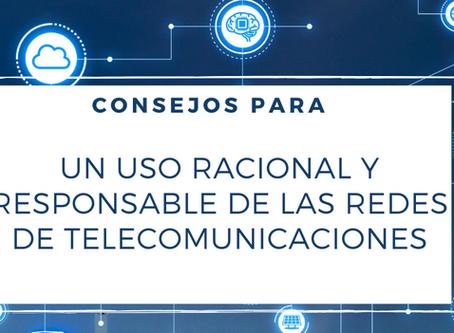 Los operadores aconsejan un uso racional y responsable de las redes de telecomunicaciones