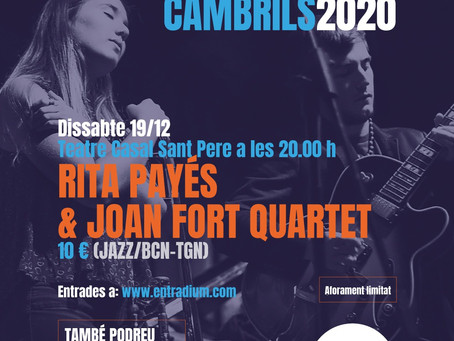 Cambrils la mar de jazz transmitirá en streaming el concierto de Rita Payés & Joan Fort Quartet