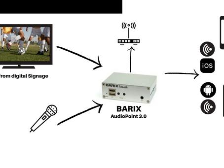 AudioPoint 3.0 de Barix, una excelente solución para transmitir audio IP con sicronización a móviles