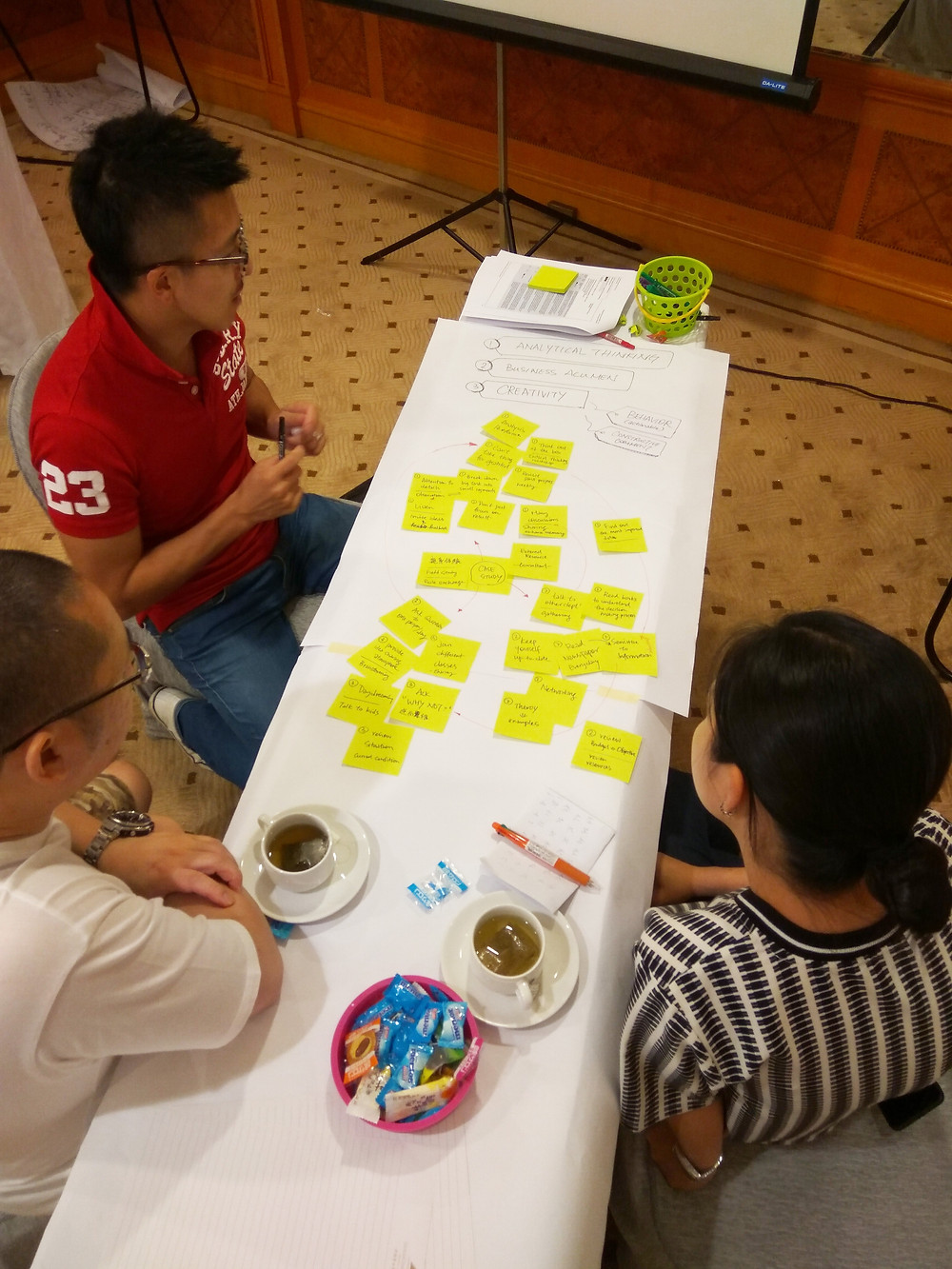"""Fruitful discussion with """"World Cafe"""""""