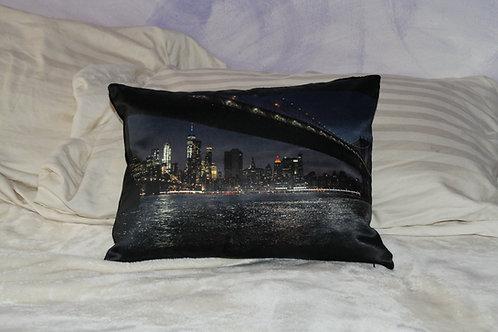 NYC Bridge Pillow  travel size