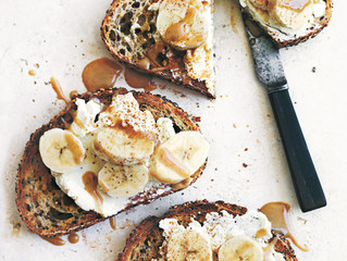 In Season | Ricotta & Banana Toasts with Cinnamon Tahini
