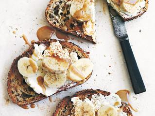 In Season | Ricotta & Banana Toasts with Cinnamon Tahini
