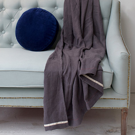 HLIN Throw Blanket - Smoke