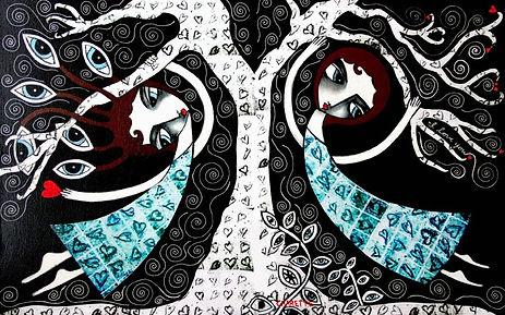 Artist Danielle Charette - Contemporary Narrative Folk Art