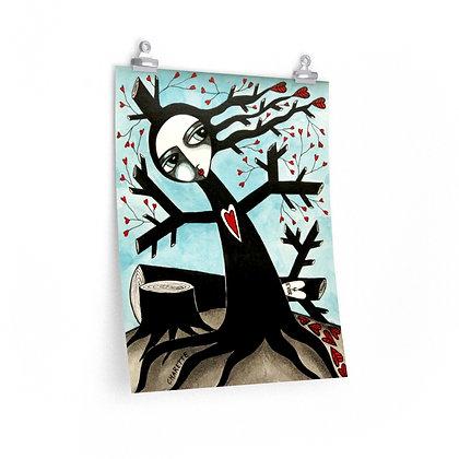 """""""TREE WIDOW"""" FINE ART PRINT ON PAPER BY ARTIST DANIELLE CHARETTE"""