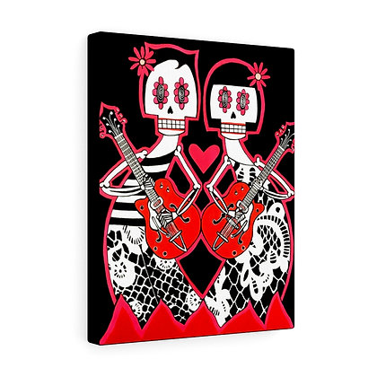 """GRETSCH LOVERS""  FINE ART PRINT ON CANVAS BY ARTIST DANIELLE CHARETTE"