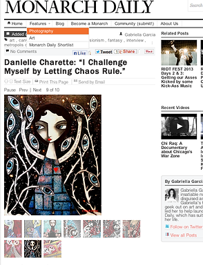 DANIELLE CHARETTE-TYLER SHIELDS- ARTIST-ART INTERVIEW