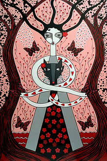 danielle charette art, mother and wolf p