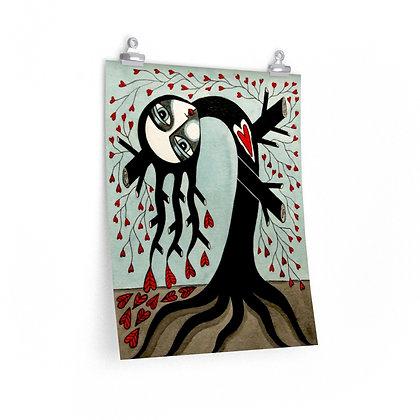"""""""TREE WIDOW 7"""" FINE ART PRINT ON PAPER BY ARTIST DANIELLE CHARETTE"""