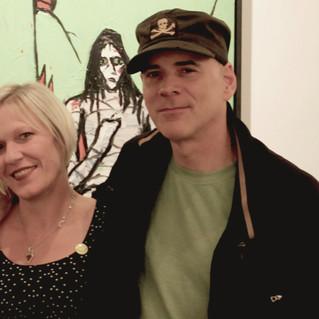 Artists Danielle Charette and Rick Prol.