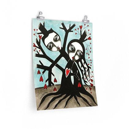 """""""TREE WIDOW 4"""" FINE ART PRINT ON PAPER BY ARTIST DANIELLE CHARETTE"""