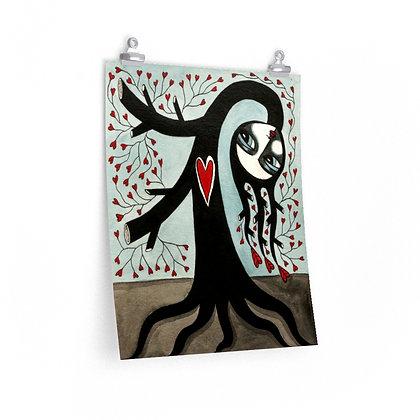 """""""TREE WIDOW 5"""" FINE ART PRINT ON PAPER BY ARTIST DANIELLE CHARETTE"""