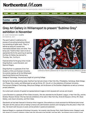 DANIELLE CHARETTE- GREY ART GALLERY-SUBLIME GREY- WILLIAMSPORT PA