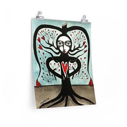 """""""TREE WIDOW 2"""" FINE ART PRINT ON PAPER BY ARTIST DANIELLE CHARETTE"""